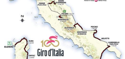 Percorso Giro d'Italia 2017